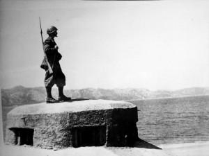 bunker con soldato